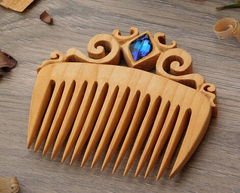 wooden comb- write to aspire