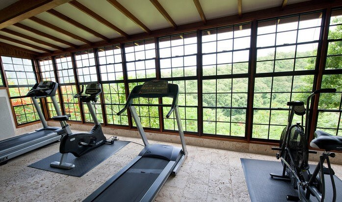 Jade mountain resort St. Lucia fitness center/writetoaspire