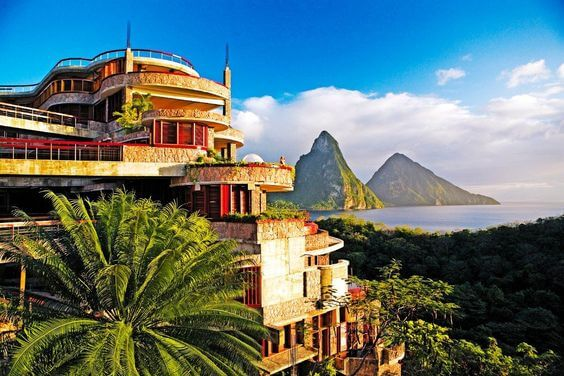 Jade mountain resort St. Lucia architecture/ writetoaspire