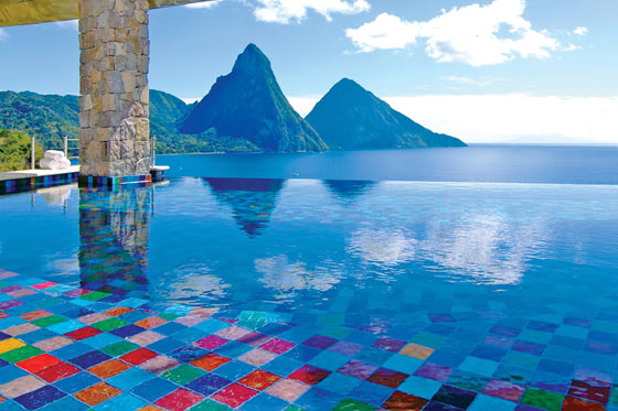 Jade mountain resort St. Lucia infinity pools/ writetoaspire