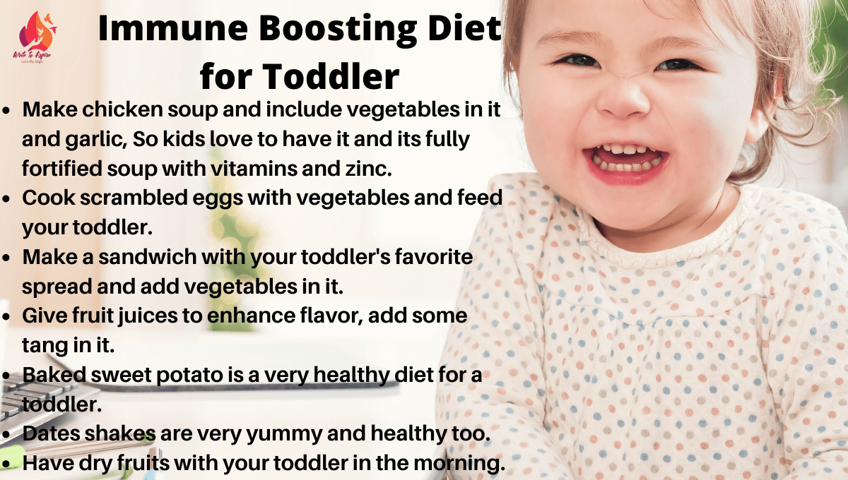 Immune system booster for toddler diet - write to aspire