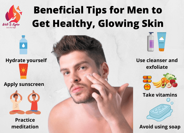 glowing skin for men-write to aspire