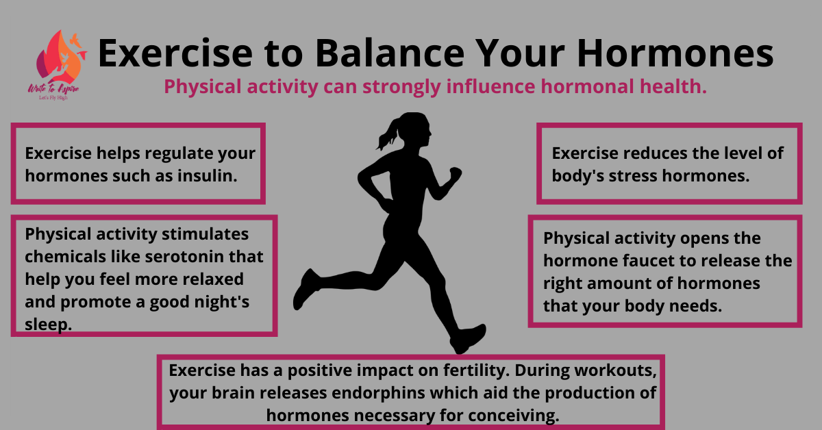 Exercise to balance hormones-write to aspire