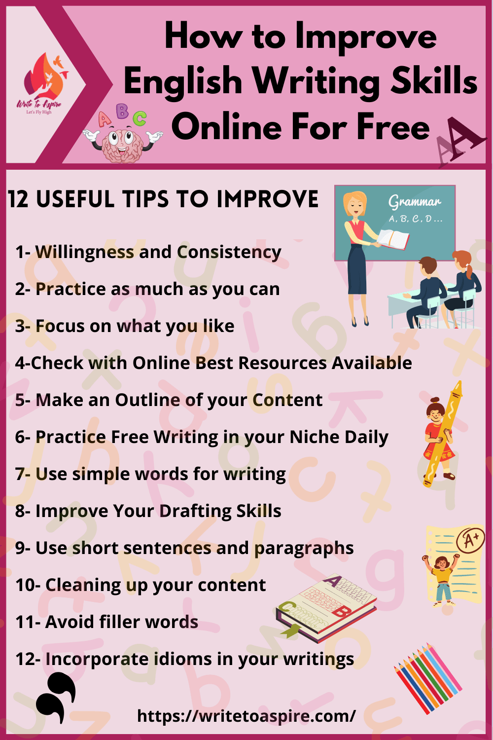 How to Improve English Writing Skills Online For Free- write to aspire