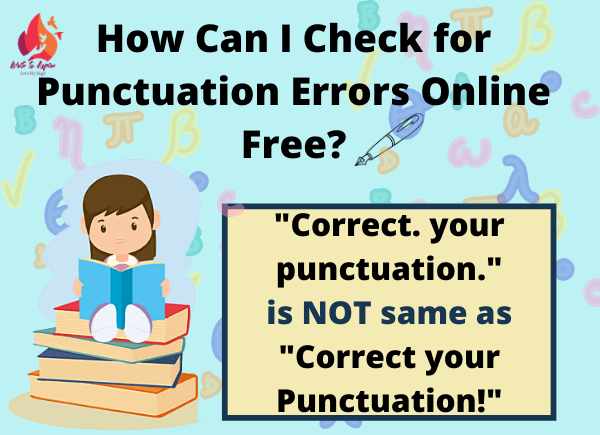 check for punctuation errors online free- write to aspire