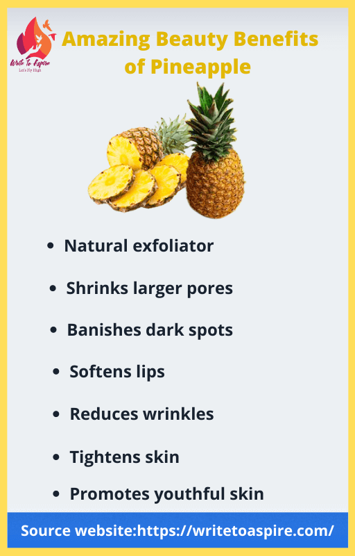 amazing beauty benefits of pineapple-write to aspire