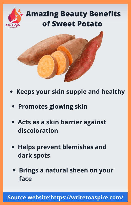 beauty benefits of sweet potato-write to aspire