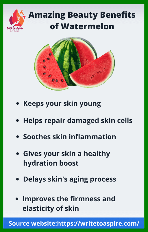 beauty benefits of watermelon-write to aspire