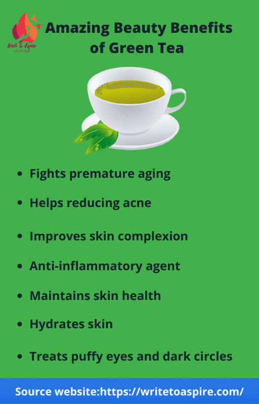 inctredible beauty benefits of green tea-write to aspire